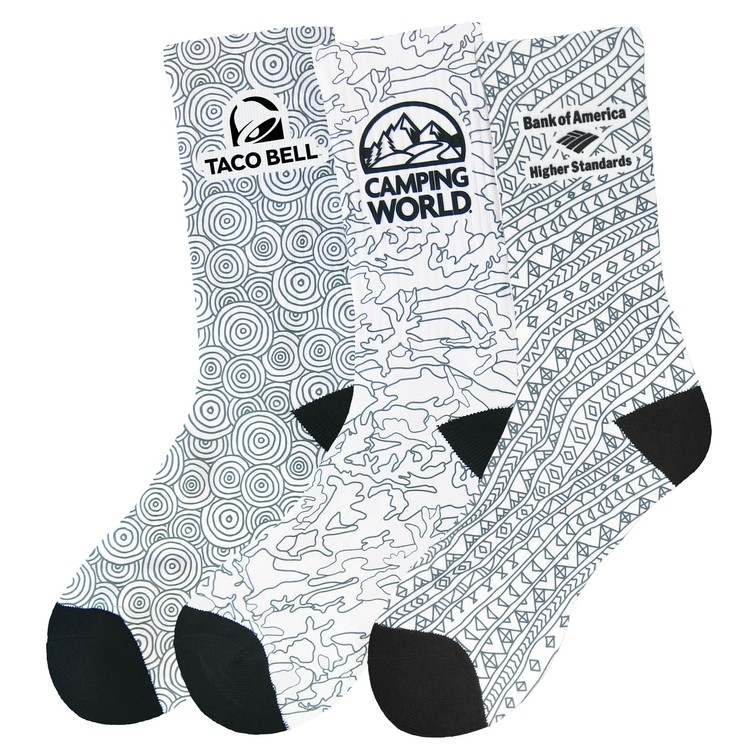 Color-On(TM) Colorable Youth Crew Socks