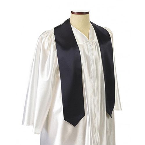 Navy Blue Polyester Satin Graduation Sash / Stole