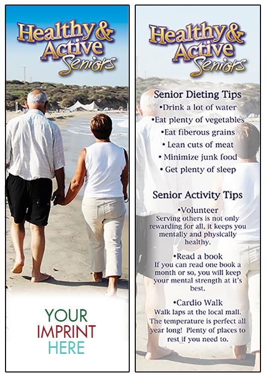 BOOKMARK - Healthy & Active Seniors Bookmark