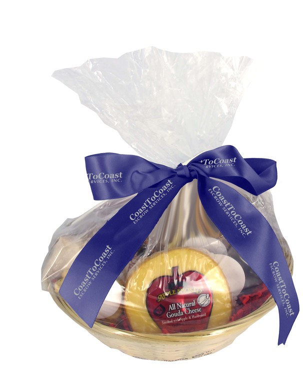Gourmet Shareable Gift Basket- Cheese & Crackers
