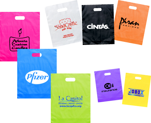Plastic Bags - Frosted Die Cut