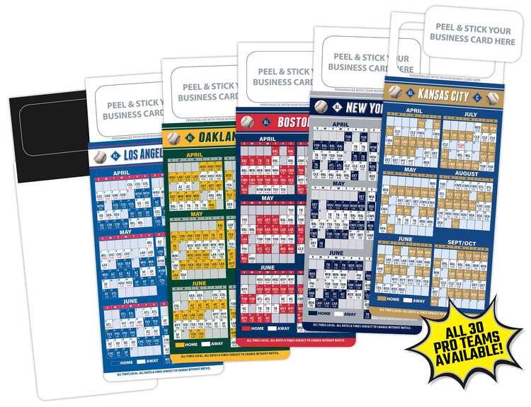 M.B.C. Sport Schedules - Pro Baseball (3.5x9)