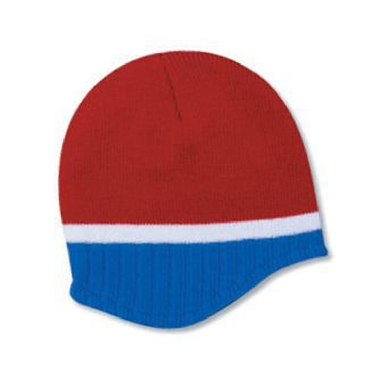Beanie With Trim And Fleece Lining
