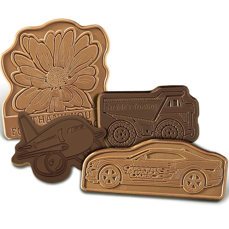 3x 3 Custom Chocolate Shapes