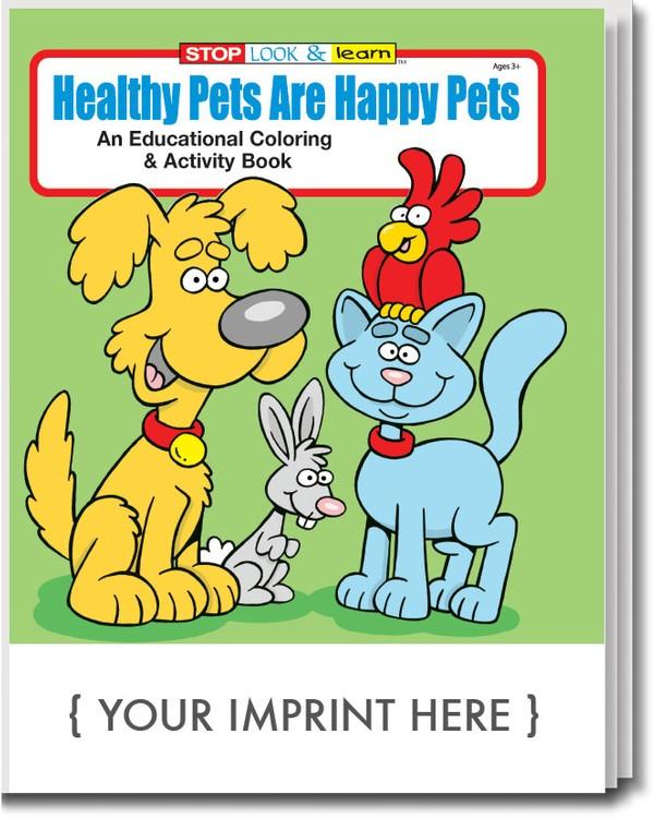 COLORING BOOK - Healthy Pets are Happy Pets Coloring & Activity Book