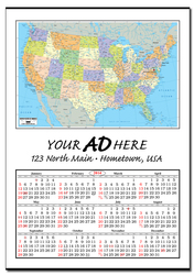 Jumbo Map Calendar (United States)