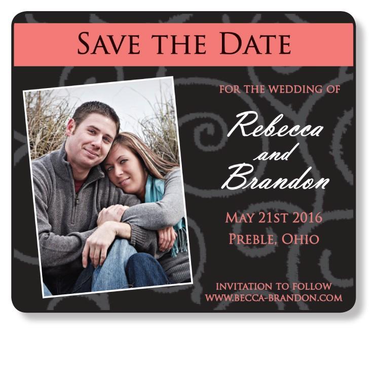 3.5x4 Wedding Magnet with FREE Printed Envelopes