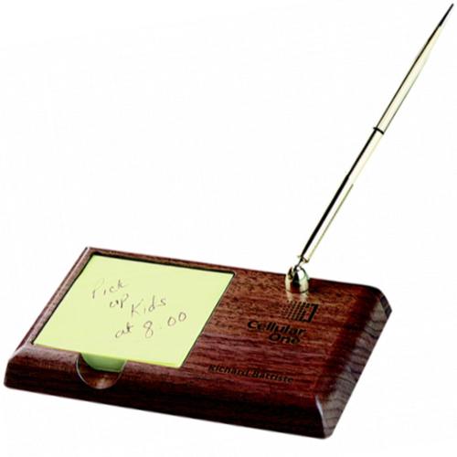 Wood Memo Pen Stand