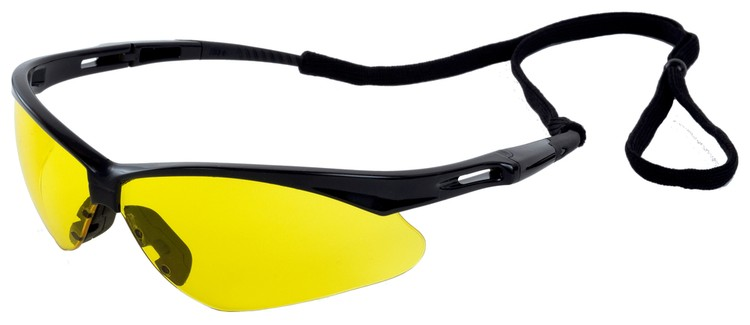 Octane Safety Glasses (Black Frame/Amber Lens)