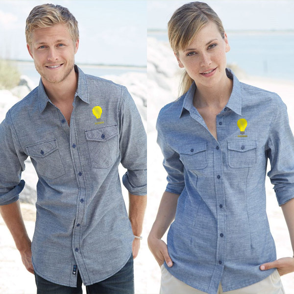 promotional chambray shirts