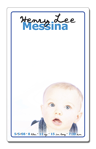 Announcement Mini Memo Board - 5.25x8.5 Laminated - 14 pt.