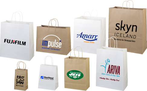 Paper Bags - White Kraft Shopper
