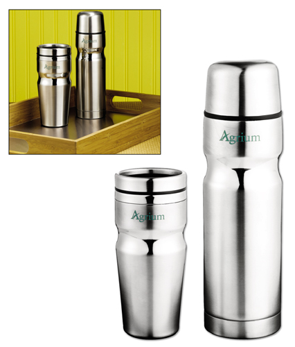 Deco Band Insulated Bottle & Tumbler Gift Se 18oz