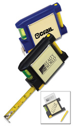 6' 6 Tape Measure with Level, Note Pad and Pen