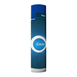 SPF 15 Lip Balm in White Tube with COLORED CAP