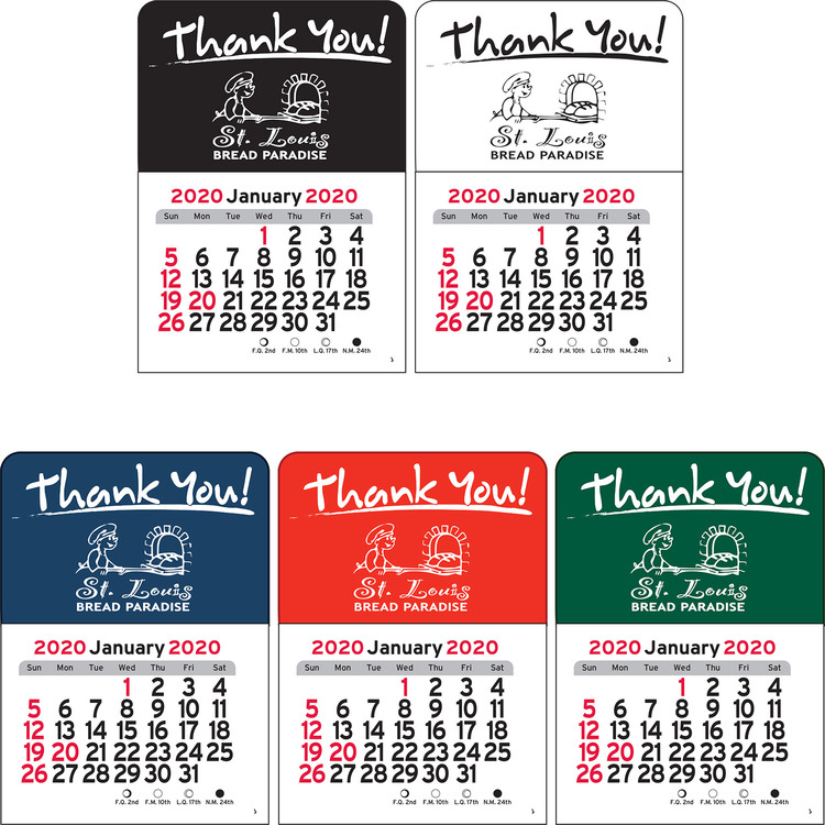 Thank You! Vinyl Adhesive Mini Stick Calendar