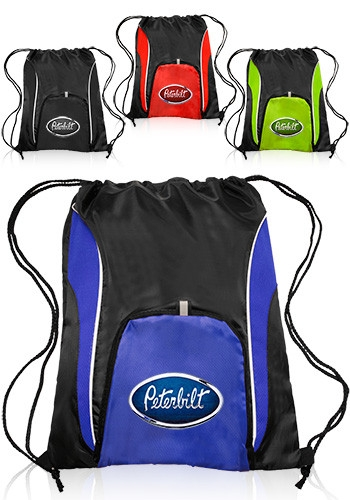 Sports Drawstring Backpack - 14 W x 17 H