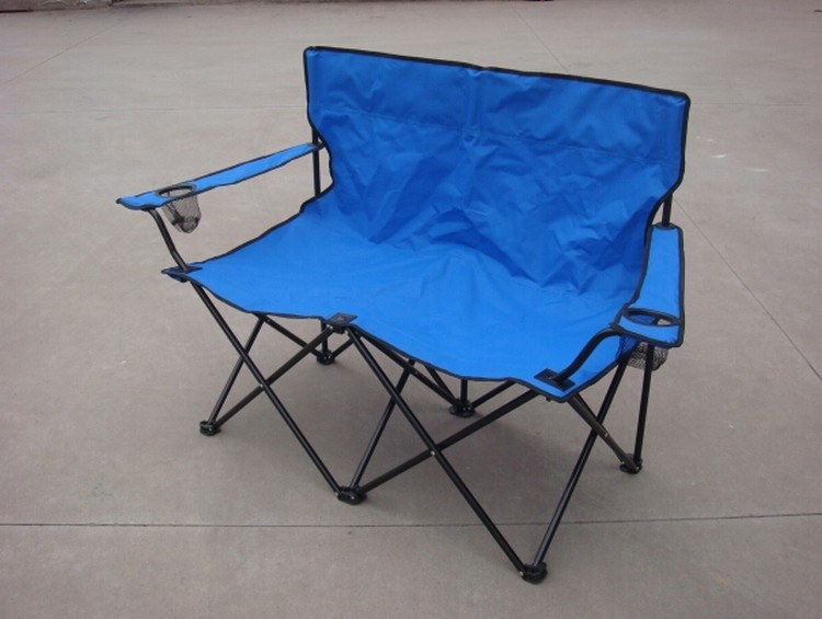 Terrific Folding Portable Double Seat Camping Chair With Armrest Unemploymentrelief Wooden Chair Designs For Living Room Unemploymentrelieforg