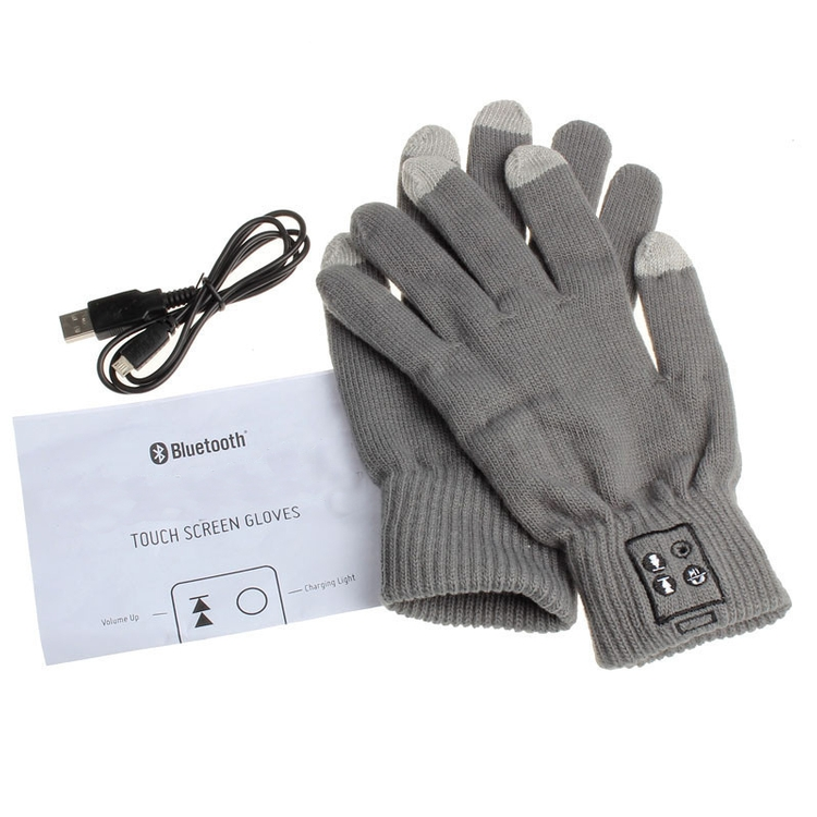 Touch Screen Knit Gloves with Wireless Bluetooth Device