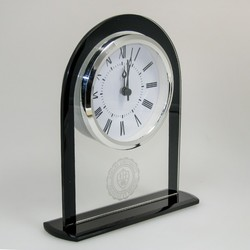 Glass Upright Round Top Clock