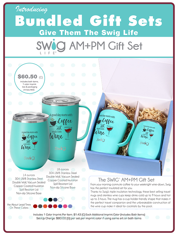 Cup and Tumbler Packaged Gift Set