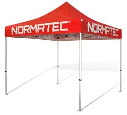 V4 10x10 Aluminum Pop Up Tent w/Printed Valances & Solid Top
