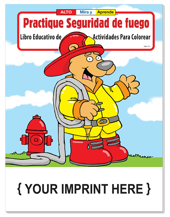 COLORING BOOK - Practice Fire Safety (Spanish) Coloring & Activity Book