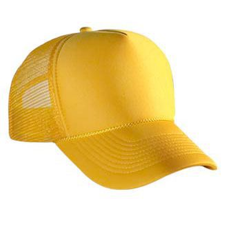 7a36382d883 OTTO Polyester Foam Front 5 Panel Pro Style Mesh Back Baseball Cap  32-467A  32-467A
