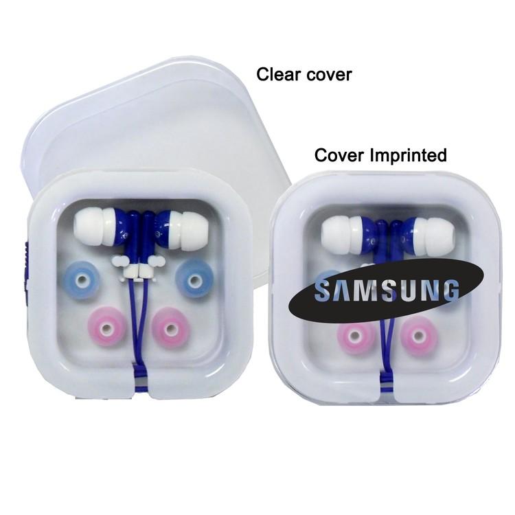 Stereo Earbud Audio Headphones - Blue