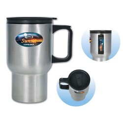 Brand Gear™ Stainless Steel Travel Mug