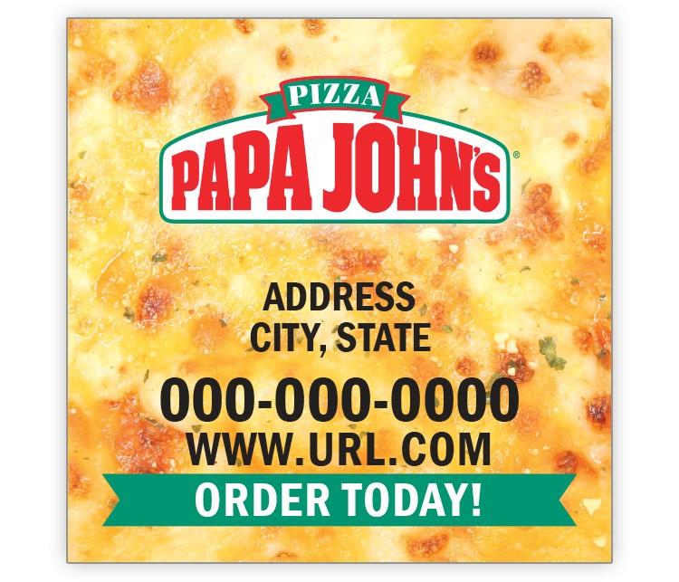 Papa John's 2x2 Keeper Magnet - Cheese