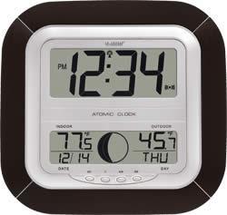 Atomic Digital Wall Clock w/Moon Phase - La Crosse Technology WS-8418U-IT