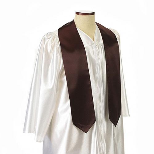 Maroon Polyester Satin Graduation Sash / Stole