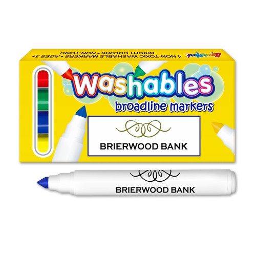 Washable Marker Four Pack Box - USA Union Made