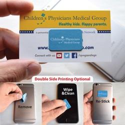 Pluswipe Full Color Microfiber Sticky Screen Cleaner Sticker Rectangle (1.3x0.8) S-Series