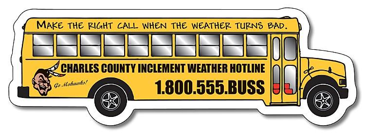 School Magnet - School Bus Shape (5.25x1.75) - 25 mil.