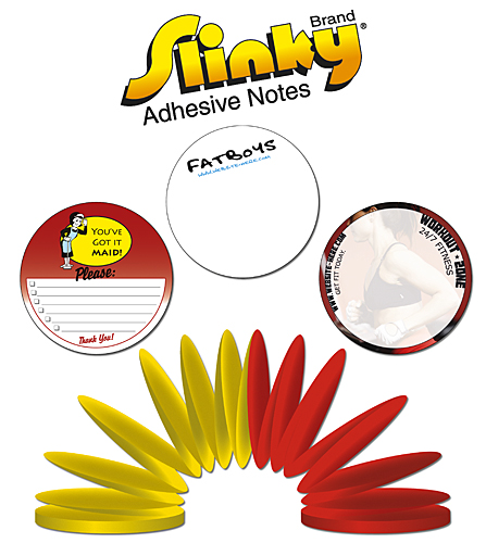Slinky(R) Adhesive Notes - Round - 100 Sheets