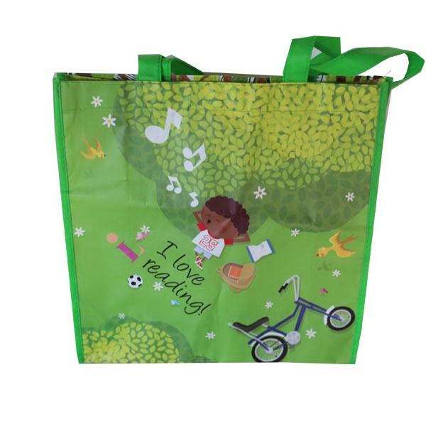 Laminated Non Woven Tote Bags - 16x12x6 Laminated Non Woven Tote Bag