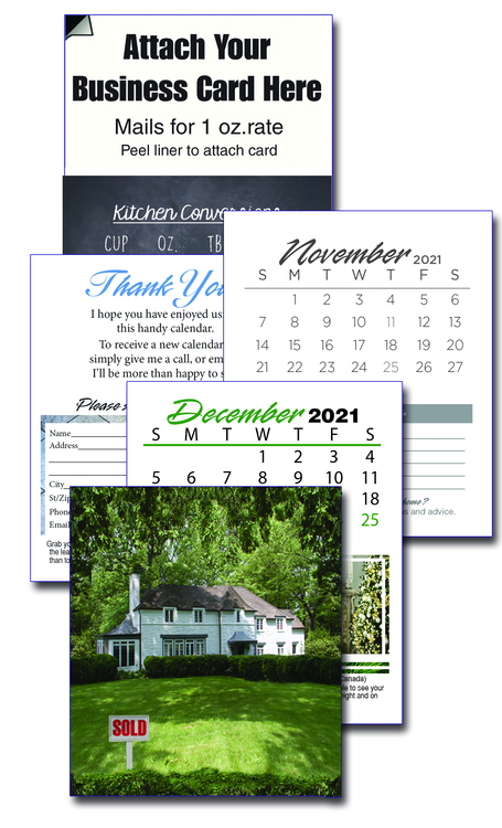 13 Month Realtor Business Card Calendar with Cover