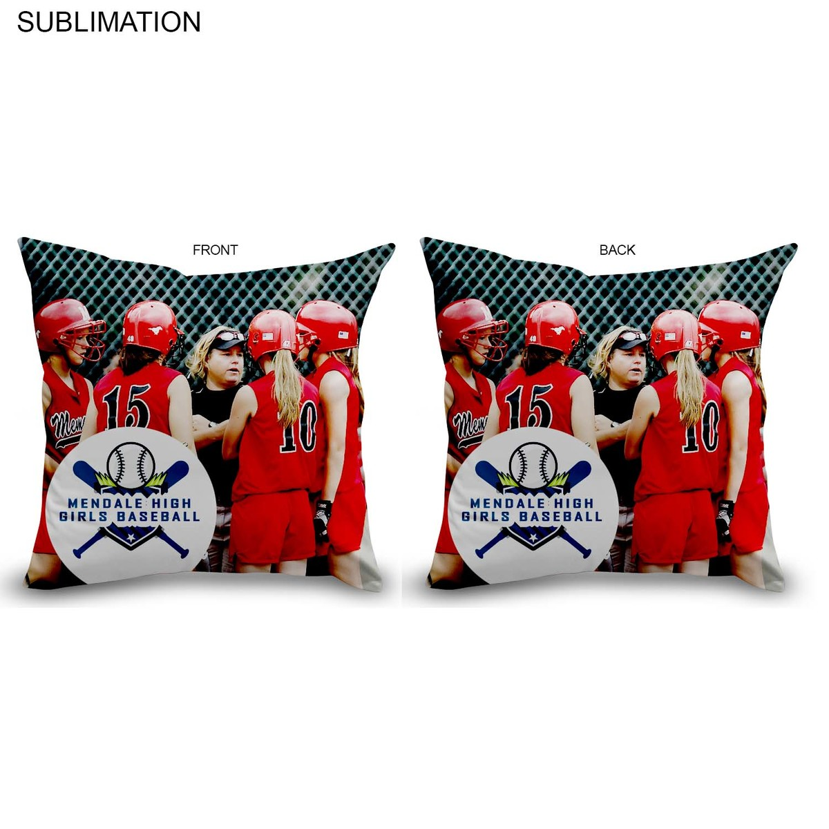 Photo Throw Cushion, 16x16, Sublimated or Blank