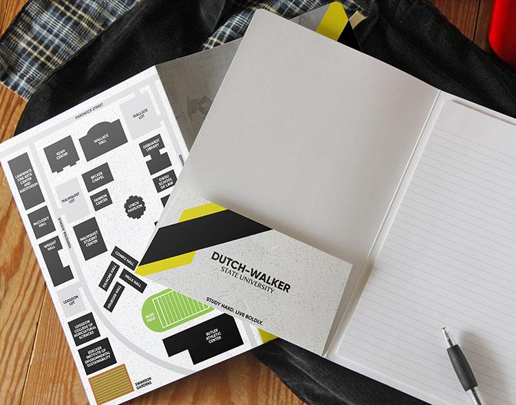 Custom printed padfolios notebook for universities