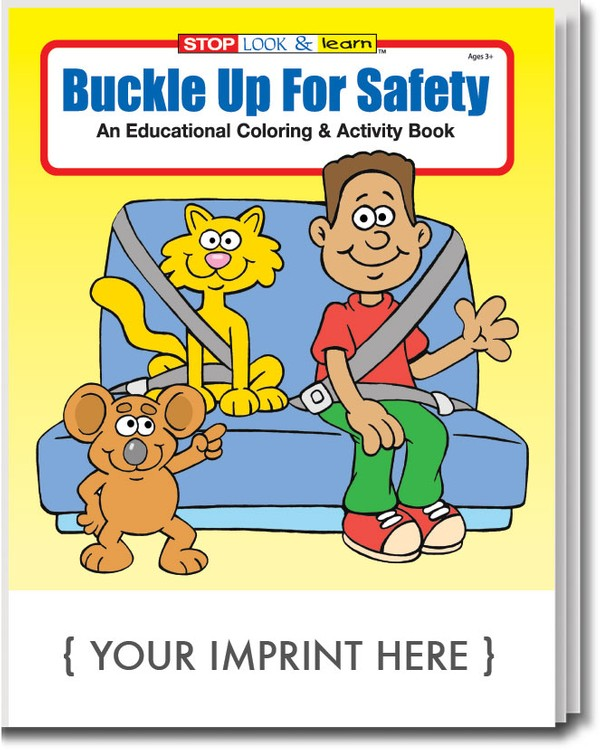 COLORING BOOK - Buckle Up for Safety Coloring & Activity Book