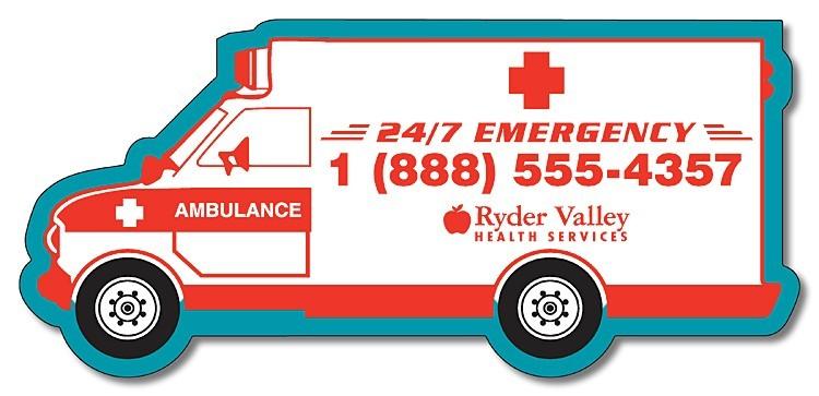 Magnet - 5.25x2.42 Ambulance Shape - Outdoor Safe