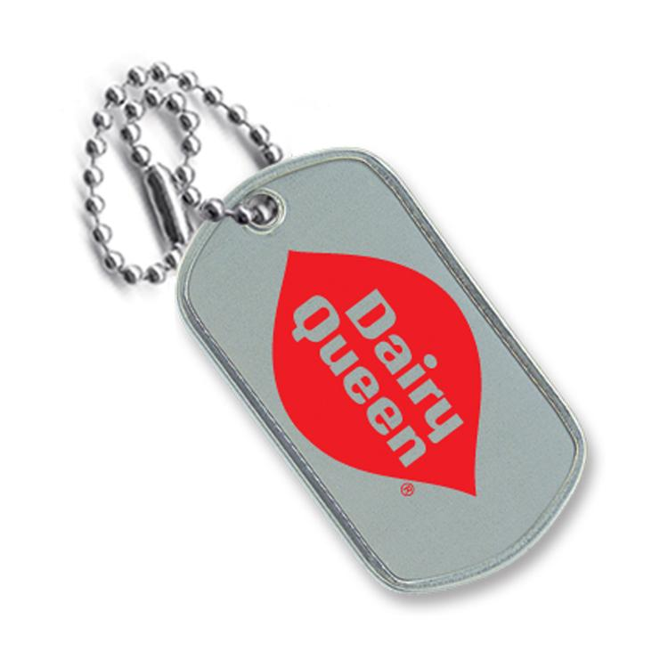 Stainless Steel Dog Tag, Single Color Imprint Frontand a 4 Neck Chain, Polybagged