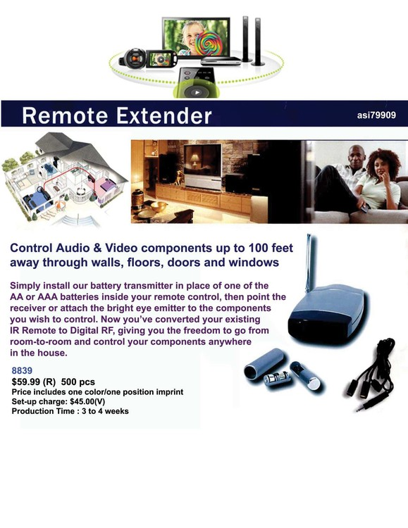 iBank® Remote Control Extender, control audio & video components