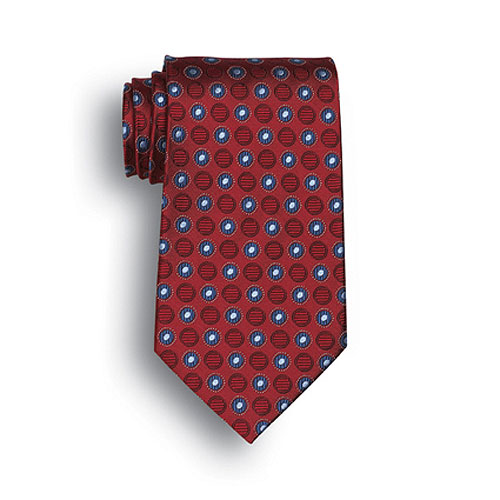 Red Ellison Bay Woven Silk Neck Neck Tie