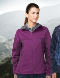Women's 3-layer construction consisting 2 layers of knit polyester bonded together, with a breathab - BELLAIRE