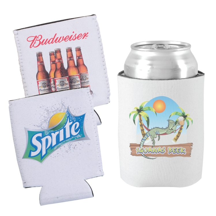 Neoprene Collapsible Can Holder w/Full Color Sublimation