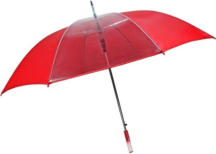 60 Inch 7&1 Crystal Clear Panel Auto Open Umbrella SALE plus BONUS