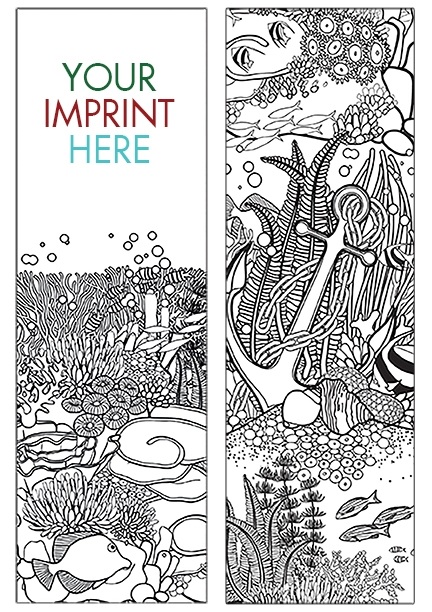 COLORING BOOKMARK - Oceans Bookmark